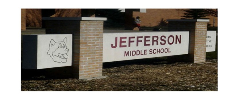Jefferson Middle School Sign