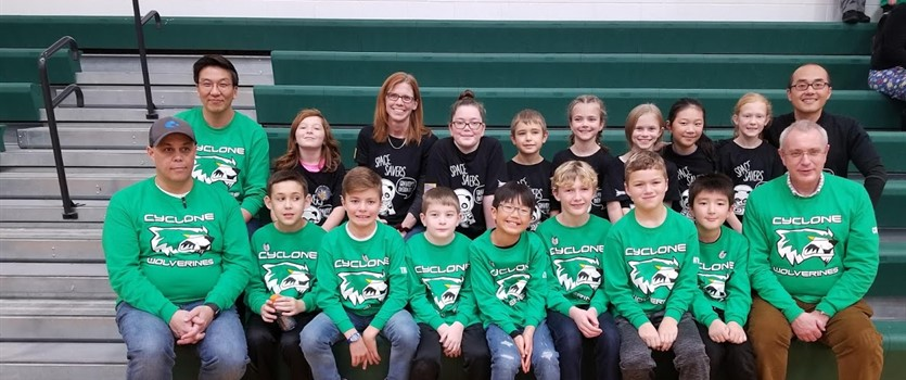 Woodcrest Space Savers and Cyclone Wolverines 2018-19 Robotics Teams